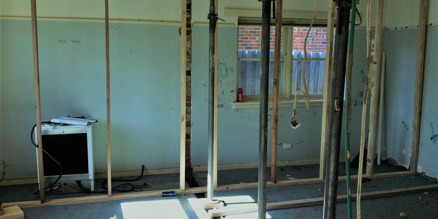 Internal renovation in progress glen iris